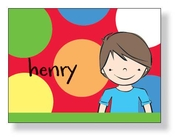 Product Image For Brunette Boy Notecard