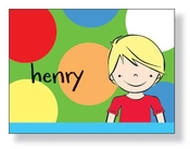 Product Image For Blonde Boy Notecard