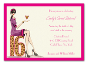 Product Image For Chic Sixteen Invitation