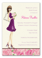Product Image For Floral Bride Invitation