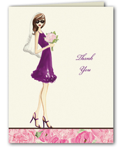 Product Image For Floral Bride Thank You Note (Brunette)