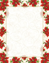 Product Image For Poinsettia Swirl Letterhead