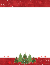 Product Image For Snowy Trees Foiled Letterhead