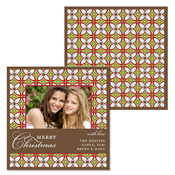 Product Image For Snowflake Retro Pattern Photo Card