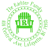 Product Image For Lime Green Chair Initial Stamp