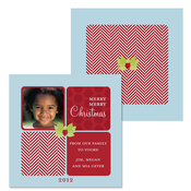 Product Image For Red Tweed Holly Berry Photo Card