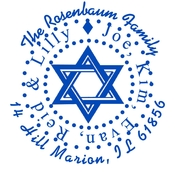 Product Image For Star of David Stamp