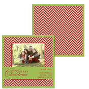 Product Image For Red Tweed Wrap Photo Card
