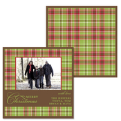 Product Image For Warm Plaid Wrap Photo Greeting Card