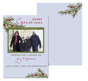 Product Image For Winter Berry Branch Vertical Photo Greeting Card