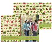 Product Image For Peace on Earth Wrap Photo Greeting Card