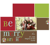 Product Image For Be Merry and Bright Photo Greeting Card