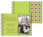 Product Image For Holiday Pattern Two Photo Greeting Card