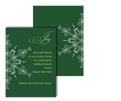 Product Image For Evergreen Snowflake Greeting Card