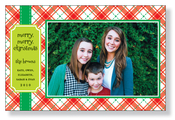 Product Image For Jolly Plaid Photo card