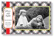 Product Image For Classy Plaid Photo Card