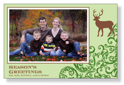 Product Image For Evergreen Deer Photo Card