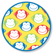 Product Image For Happy Monkey Dinner Plate