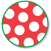 Product Image For Spots Festive Dinner Plate