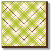 Product Image For Earthy Plaid Luncheon Napkin