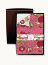 Product Image For Two Sided Pink and Cream Writing Paper in Linen Box