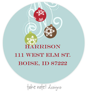 Product Image For Festive Ornament Address Label