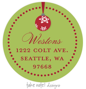 Product Image For Red Ornament Wrap Address Label