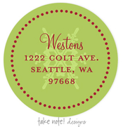 Product Image For Green on Green Snowflake Address Label