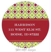 Product Image For Christmas Paper Address Label