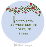 Product Image For Winter Berry Branch Address Label