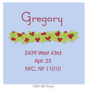 Product Image For Winter Berry Garland on Blue Address Label