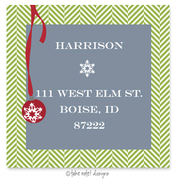 Product Image For Ornament on Tweed Address Label
