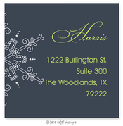 Product Image For Large Snowflake on Blue Address Label
