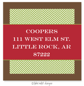 Product Image For Green Tweed Red Wrap Address Label