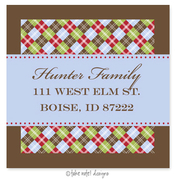 Product Image For Festive Argyle Wrap Address Label