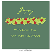 Product Image For Winter Berry Garland Address Label