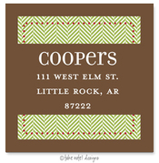 Product Image For Green Tweed Brown Wrap Address Label