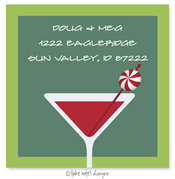 Product Image For Peppermint Martini Address Label