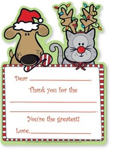 Product Image For Christmas Friends Kids Fill-In Thank Yous