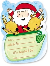 Product Image For Sledding Santa Kids Fill-In Thank Yous