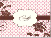Product Image For Pink Gables Notecard