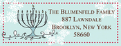 Product Image For Hanukkah Address Label