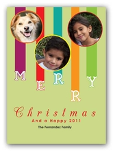 Product Image For Colorful Christmas Digital Photo Card