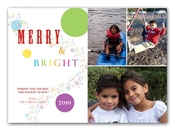 Product Image For Merry and Bright Bubbles Digital Photo Card