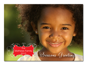 Product Image For Portrait Scroll Holiday Digital Photo Card