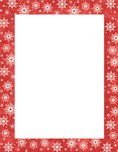 Product Image For Snowy Flakes Letterhead