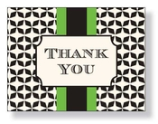 Product Image For Grand Green thank You Note Card