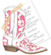 Product Image For Cowgirl Boot Invitation
