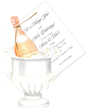 Product Image For Champagne Bucket Die-Cut Invitation