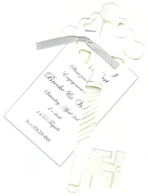 Product Image For Key to My Heart Die-Cut invitation